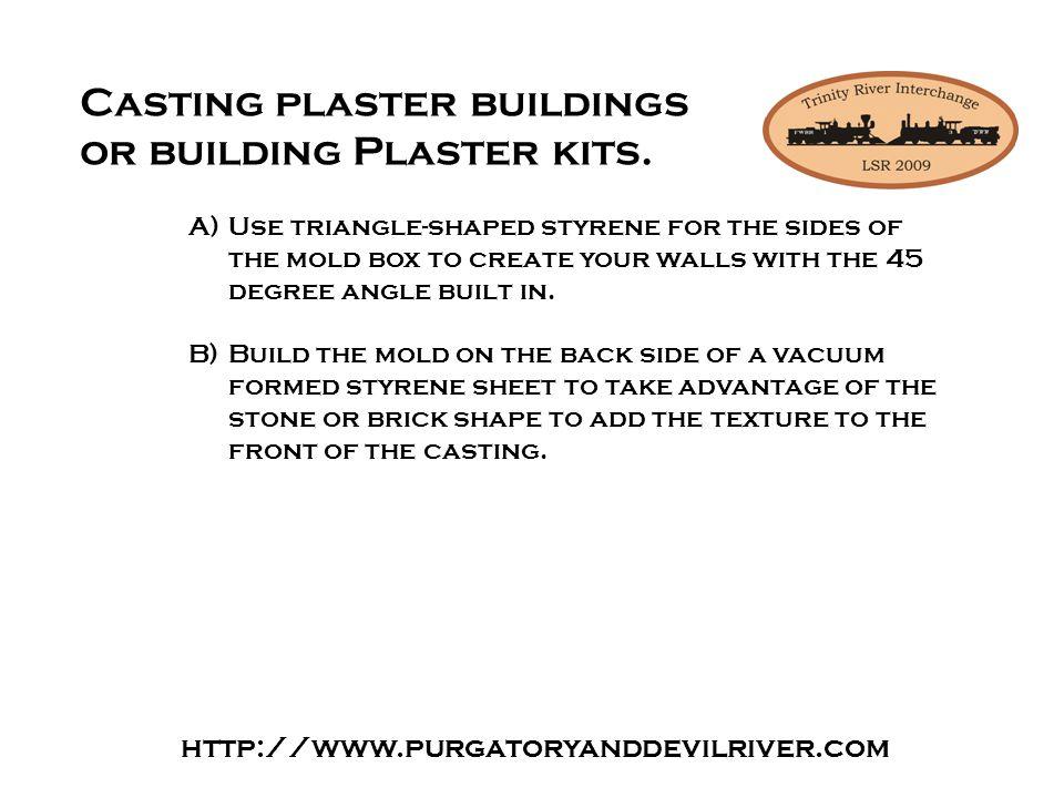 Casting plaster buildings or building Plaster kits.