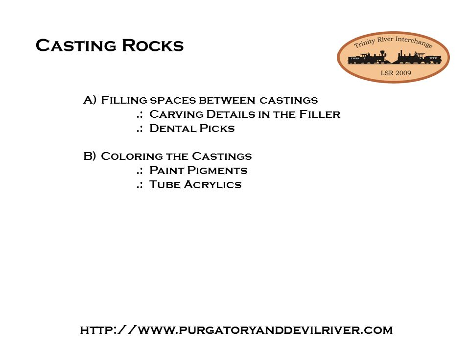 Casting plaster buildings or building Plaster kits.