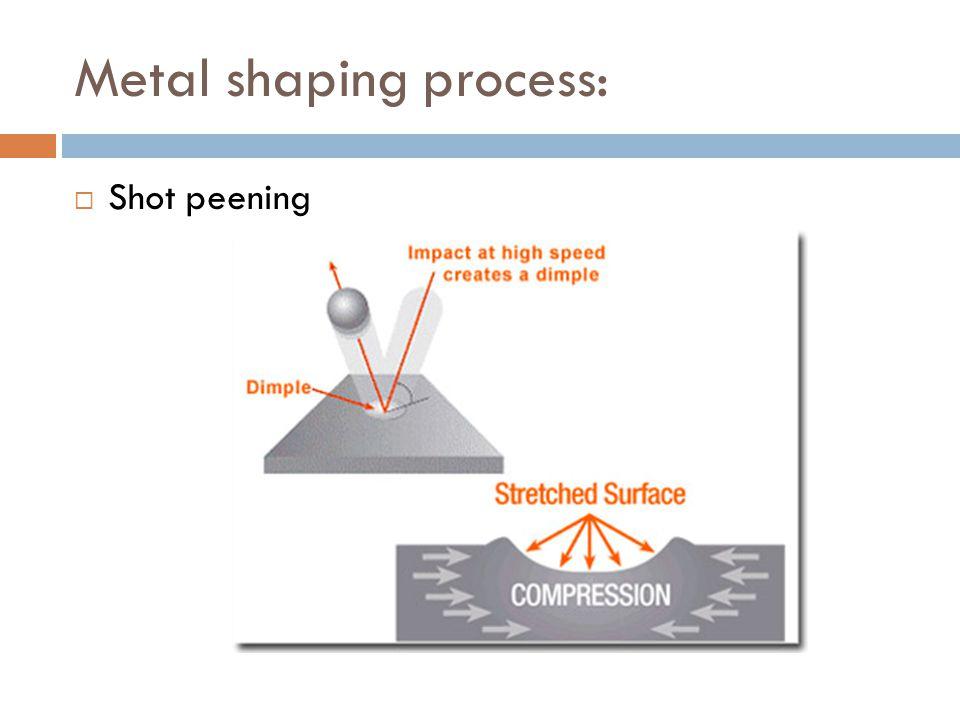 Metal shaping process:  Shot peening