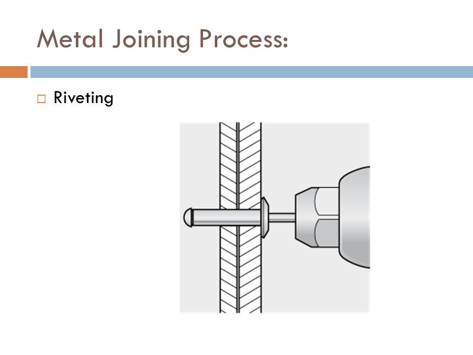 Metal Joining Process:  Riveting