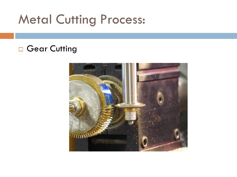 Metal Cutting Process:  Gear Cutting