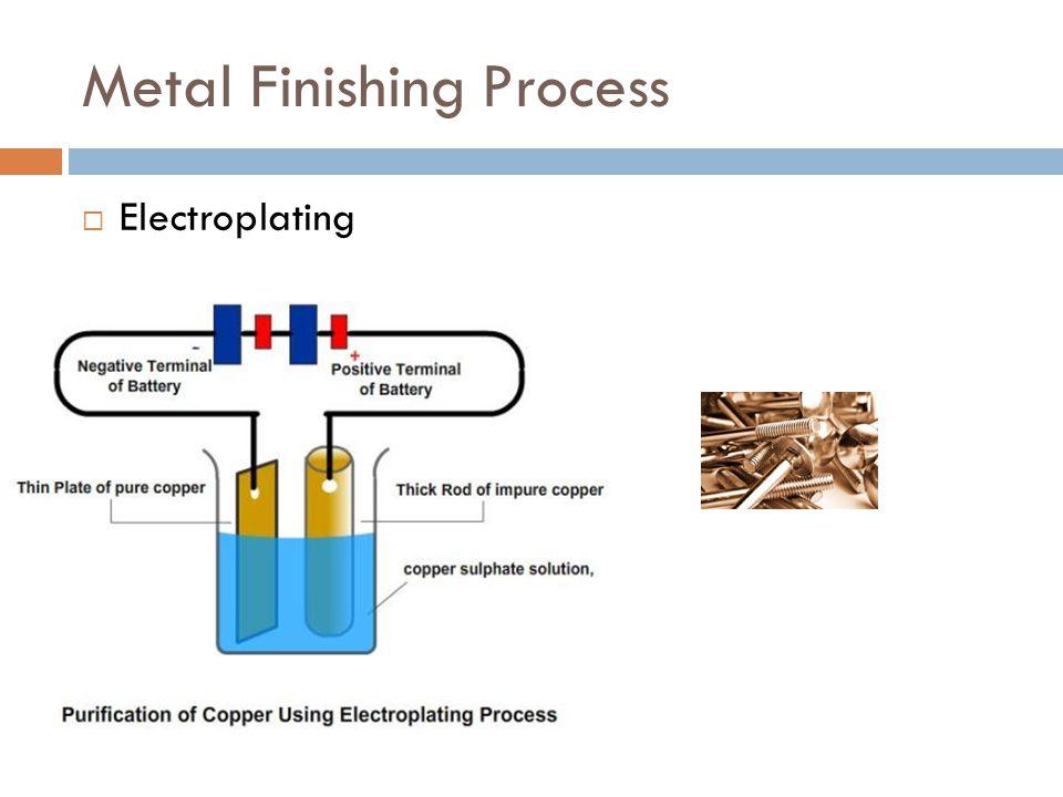 Metal Finishing Process  Electroplating