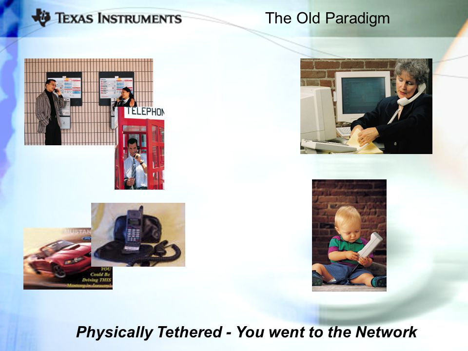The Old Paradigm Physically Tethered - You went to the Network