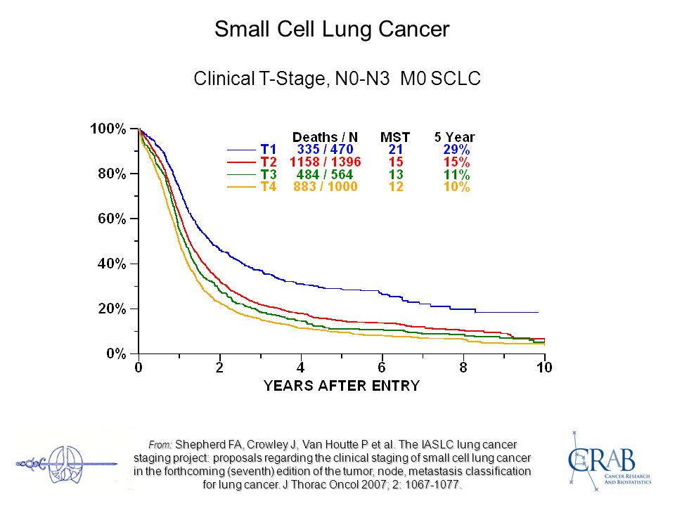 Small Cell Lung Cancer Clinical T-Stage, N0-N3 M0 SCLC From: Shepherd FA, Crowley J, Van Houtte P et al.