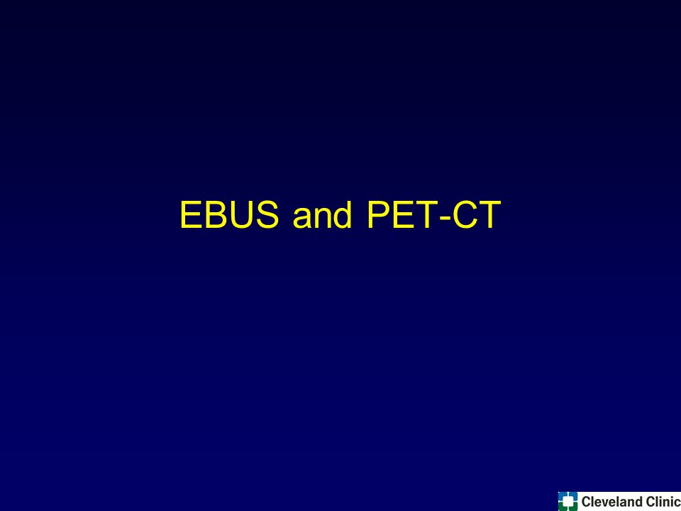 EBUS and PET-CT