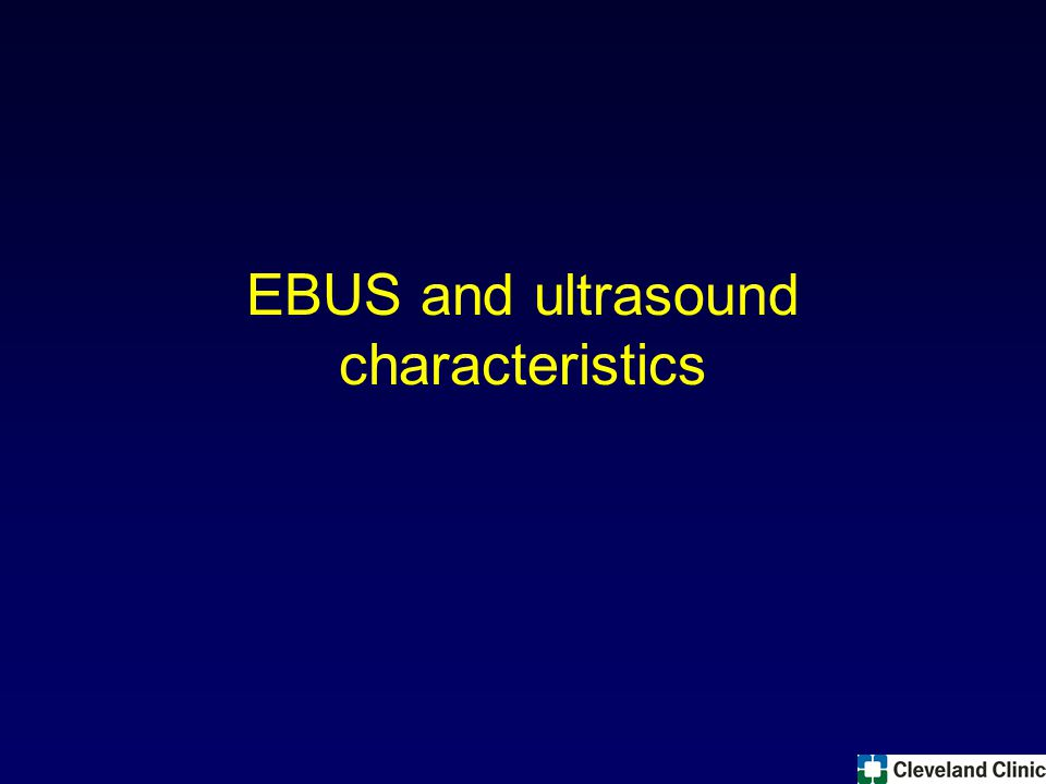EBUS and ultrasound characteristics