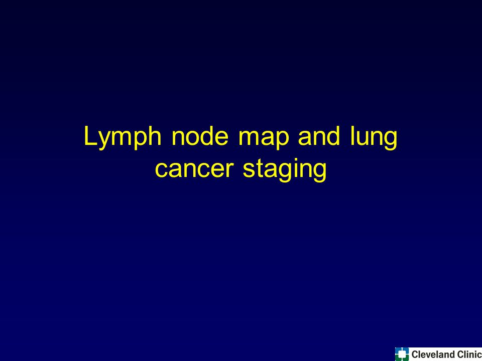 Lymph node map and lung cancer staging