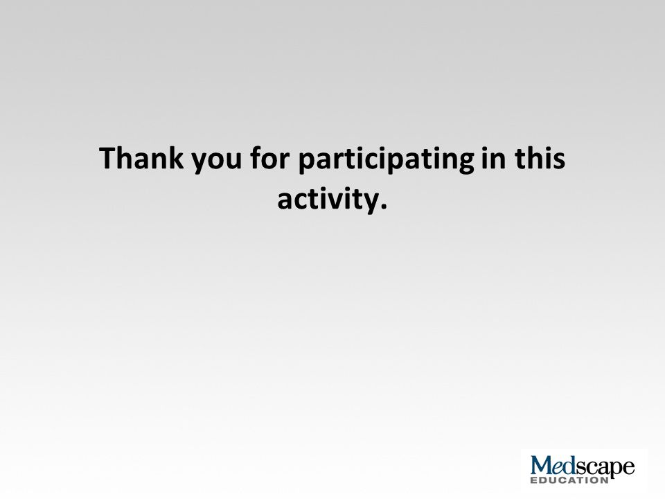 Thank you for participating in this activity.