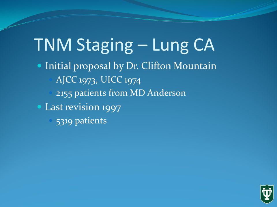 Lung Cancer – Staging 6 th ed. Lababede O et al. CHEST 1999;115:233-35