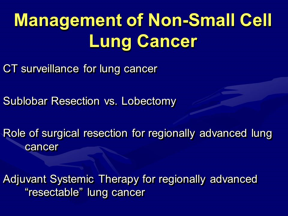 Lung Cancer Surveillance