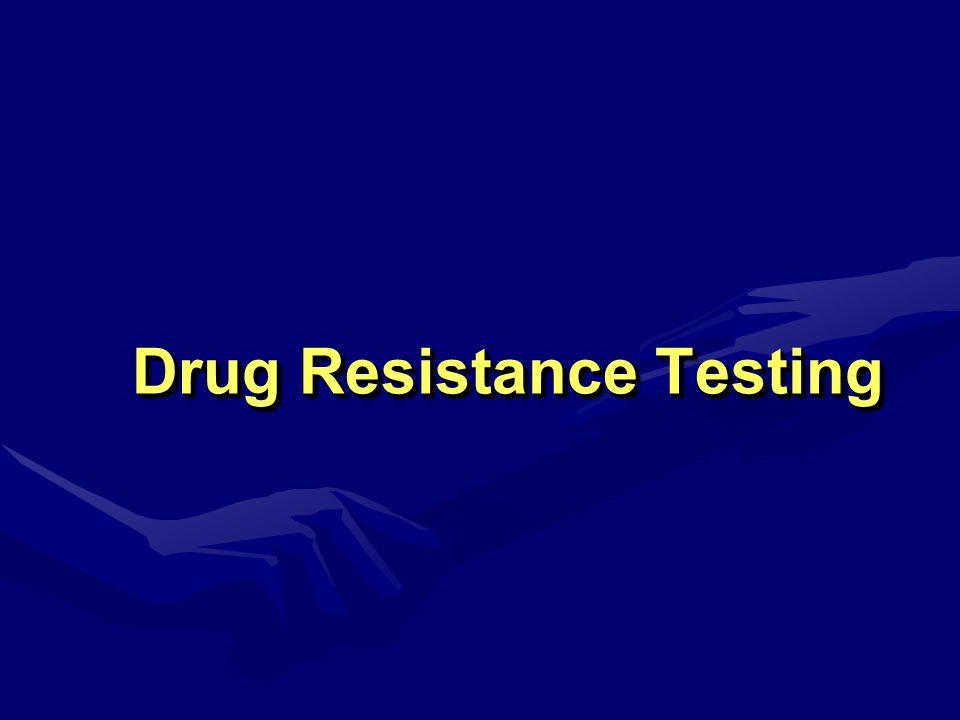 Drug Resistance Testing