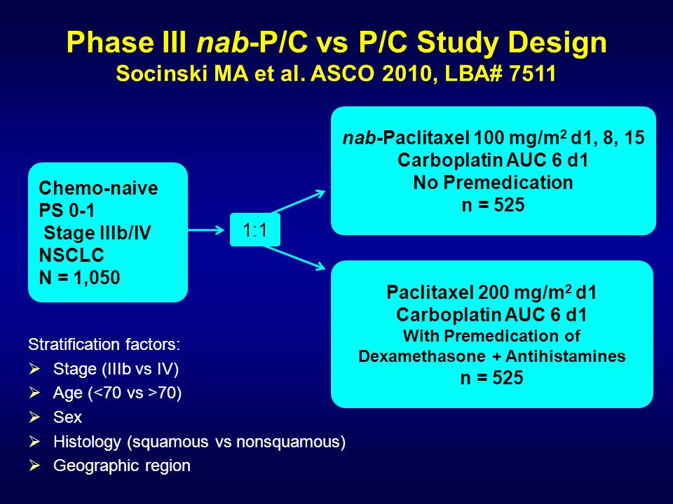 Phase III nab-P/C vs P/C Study Design Socinski MA et al.