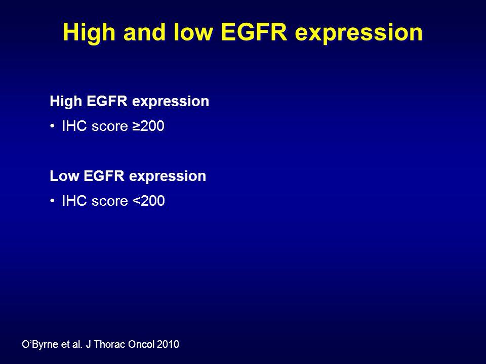 High and low EGFR expression O'Byrne et al.