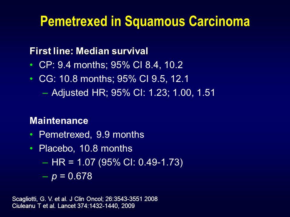 Pemetrexed in Squamous Carcinoma Scagliotti, G. V.