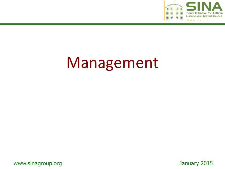 www.sinagroup.org January 2015 Management