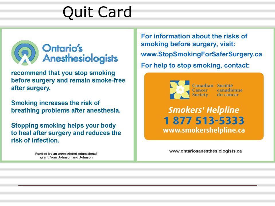 Quit Card