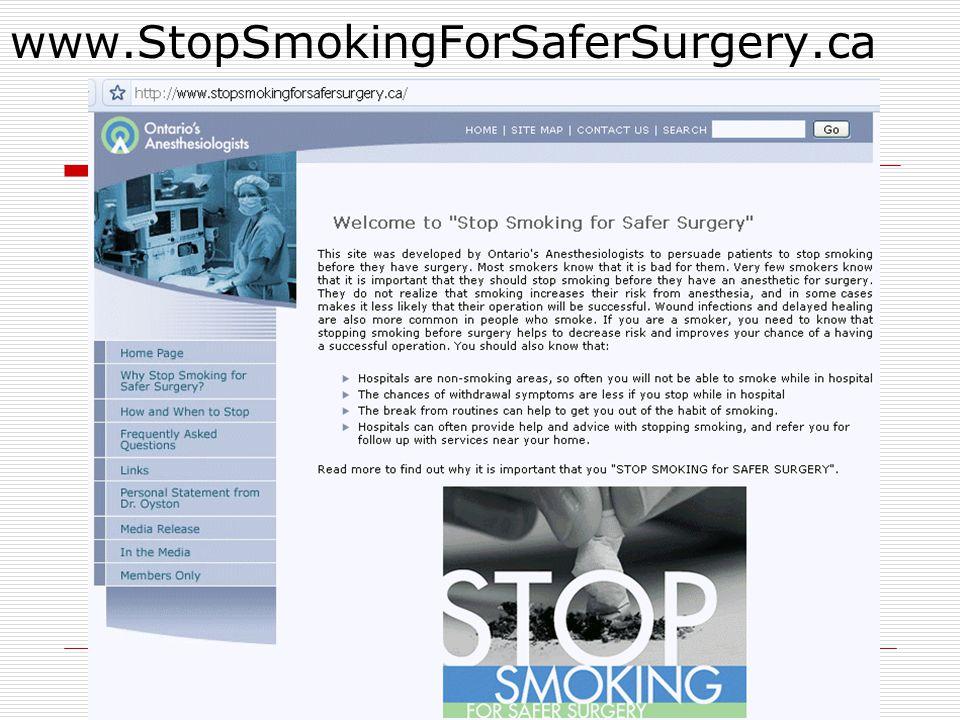 www.StopSmokingForSaferSurgery.ca