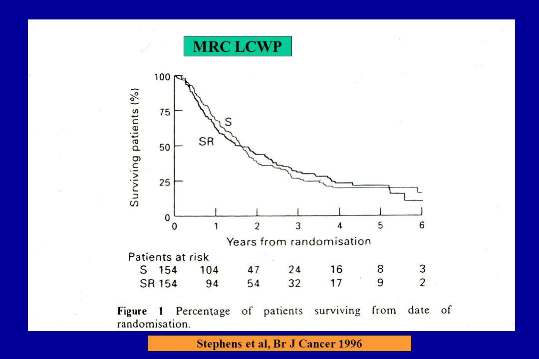 MRC LCWP Stephens et al, Br J Cancer 1996