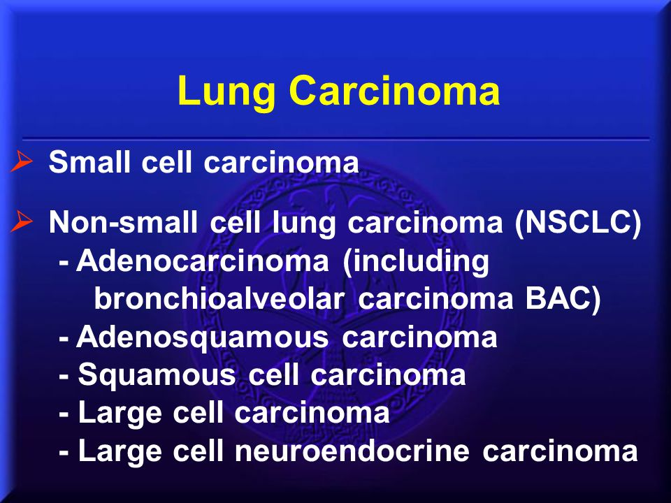 WHO Classification of Lung Cancer Classification is based on resected specimen.