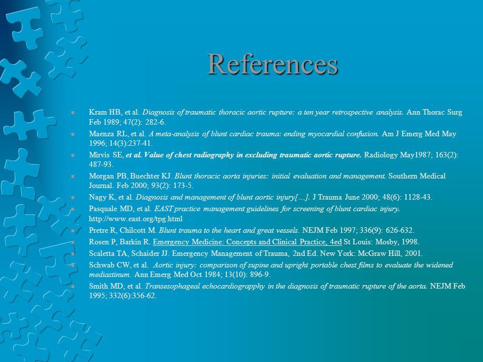 References n Kram HB, et al.