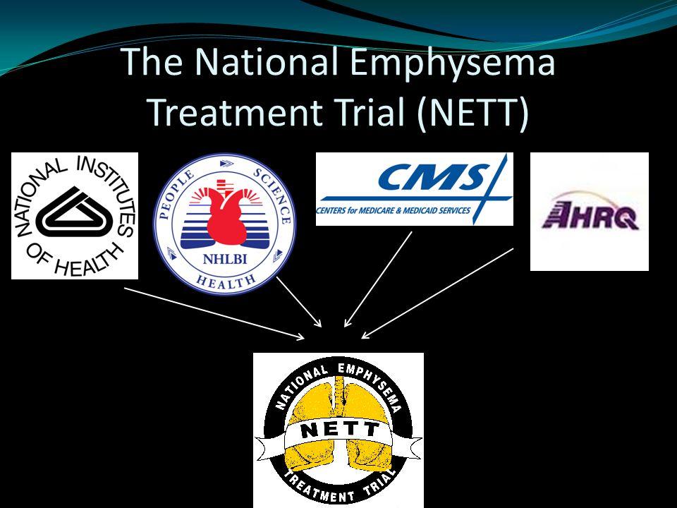 Exercise performance all patients 10 watt improvement MonthsLVRSMedical Rxp value 628%4%<0.001 1222%5%<0.001 2415%3%<0.001 NETT Research Group NEJM, 2003