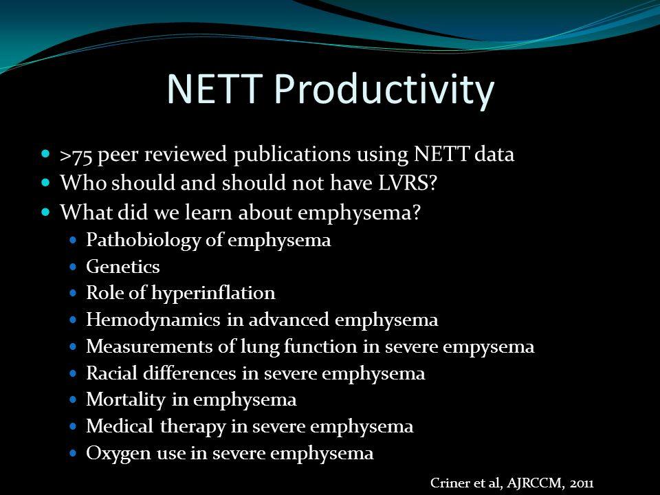 Who should not get surgery? NETT Research Group NEJM, 2001