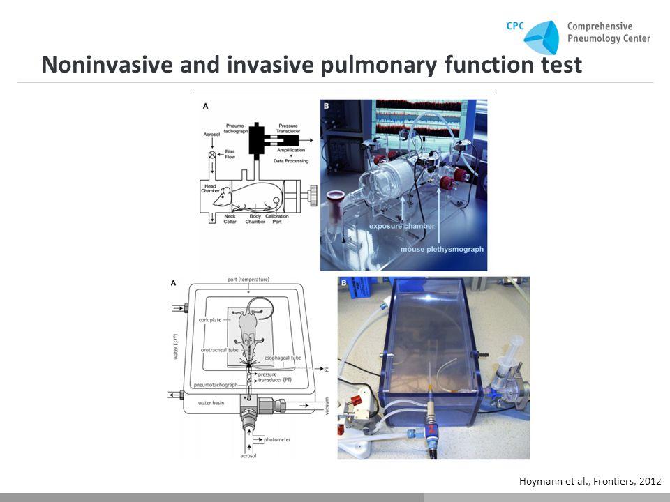 Noninvasive and invasive pulmonary function test Hoymann et al., Frontiers, 2012