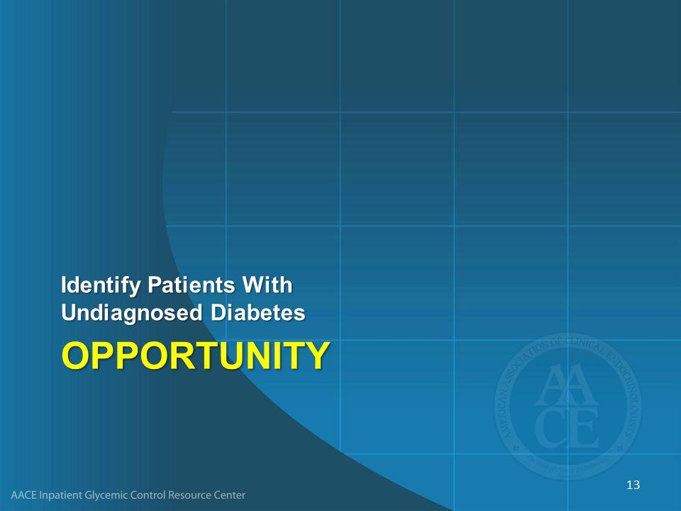 Failure to Identify Diabetes Is a Predictor of Rehospitalization Robbins JM, Webb DA.