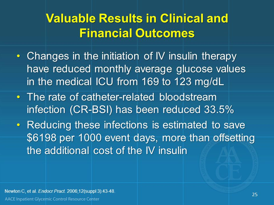 Cost Analysis of Glycemic Control in Mixed ICU Annualized cost savings = $1,340,000Annualized cost savings = $1,340,000 Savings per patient = $1580Savings per patient = $1580 Reduced LOS (mean = 3.4 days; median = 1.7 days)Reduced LOS (mean = 3.4 days; median = 1.7 days) Number of ICU days reduced 17.2%Number of ICU days reduced 17.2% Number of ventilator hours reduced 19.0%Number of ventilator hours reduced 19.0% Laboratory costs reduced 24.3%Laboratory costs reduced 24.3% Pharmacy costs reduced 16.7%Pharmacy costs reduced 16.7% Imaging costs reduced 5.0%Imaging costs reduced 5.0% Krinsley JS, et al.
