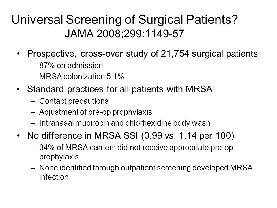 Universal Screening of Surgical Patients.