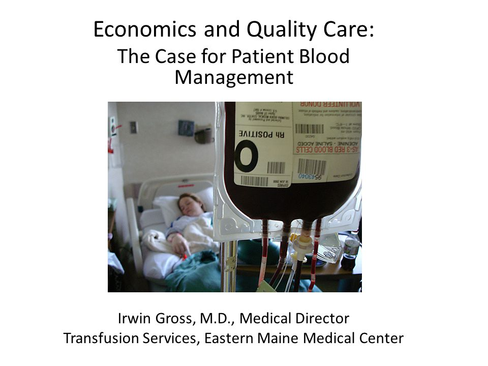 Transfusion and Mortality in CABG Retrospective study of long-term outcome in 1,915 patients after primary CABG Excluded patients who died within 30 days of surgery Transfused patients (546) were matched by propensity score (age, gender, size, LOS, perfusion time and STS risk) with pts.