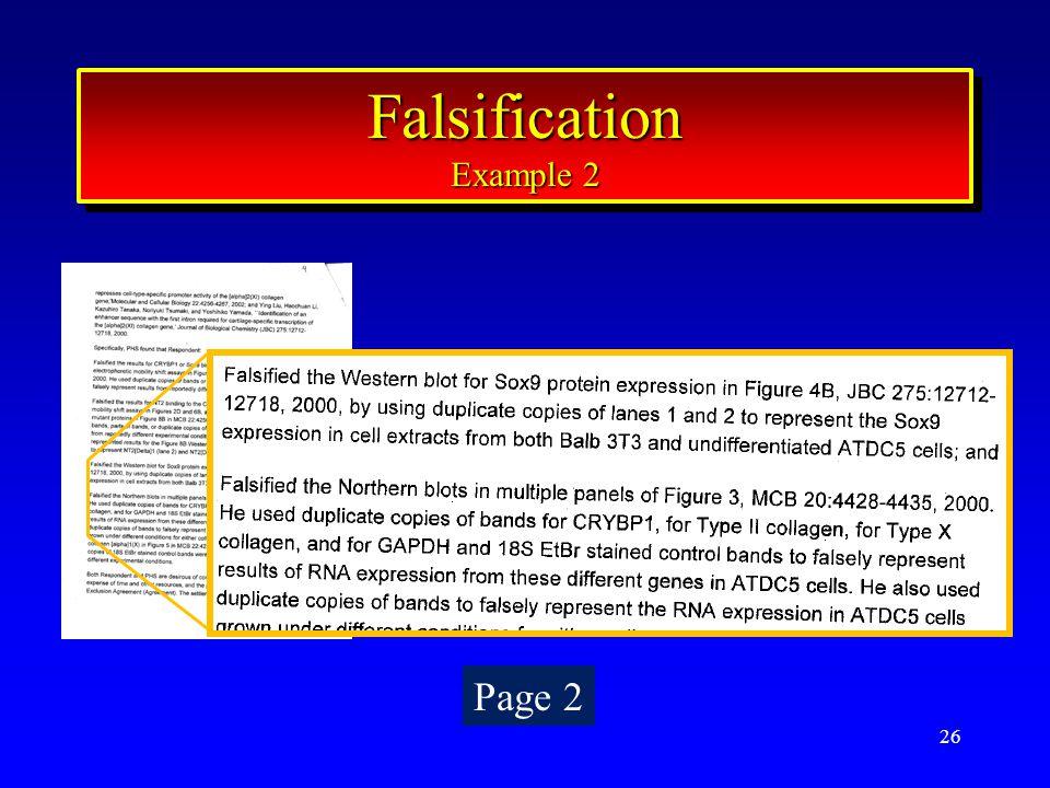 26 Falsification Example 2 Falsification Page 2