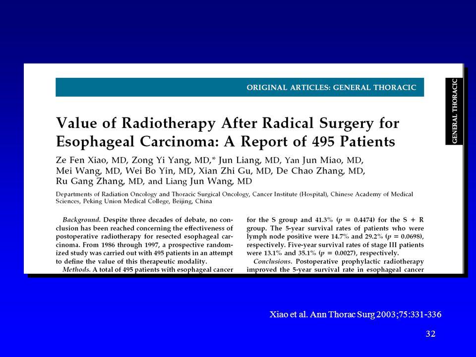 32 Xiao et al. Ann Thorac Surg 2003;75:331-336