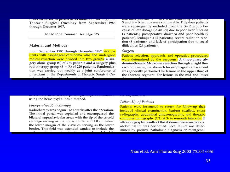 33 Xiao et al. Ann Thorac Surg 2003;75:331-336