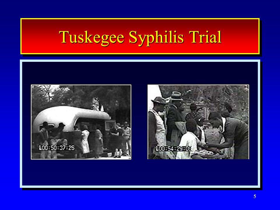 5 Tuskegee Syphilis Trial