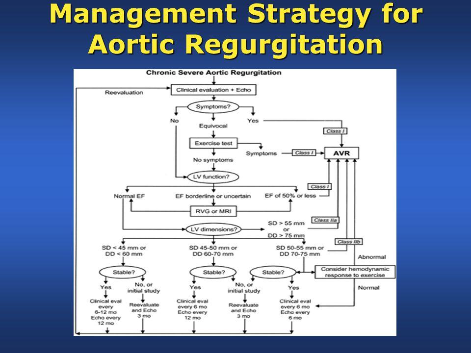 Management Strategy for Aortic Regurgitation
