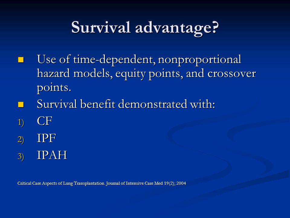 Survival advantage.