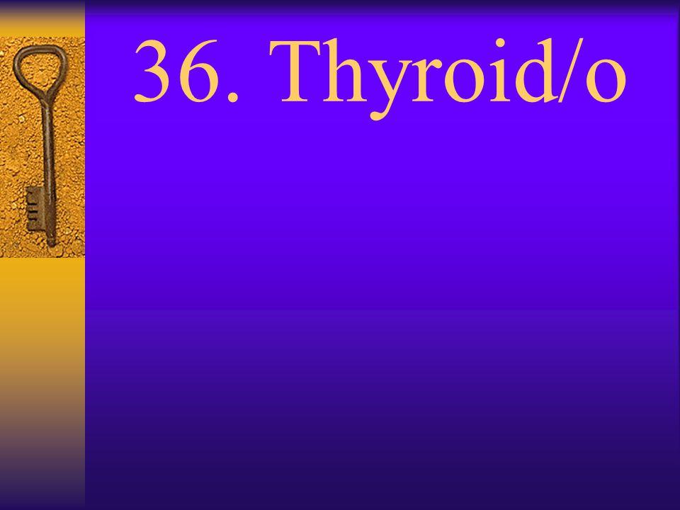 35. Thorac/o