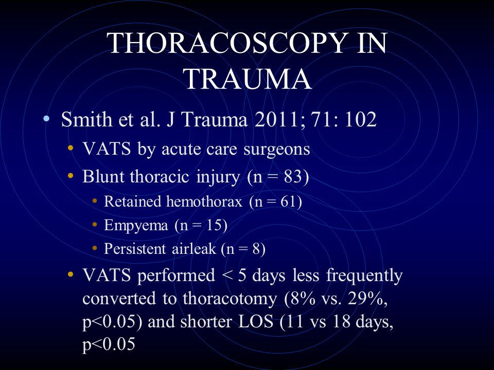 THORACOSCOPY IN TRAUMA Ben-Nun et al.