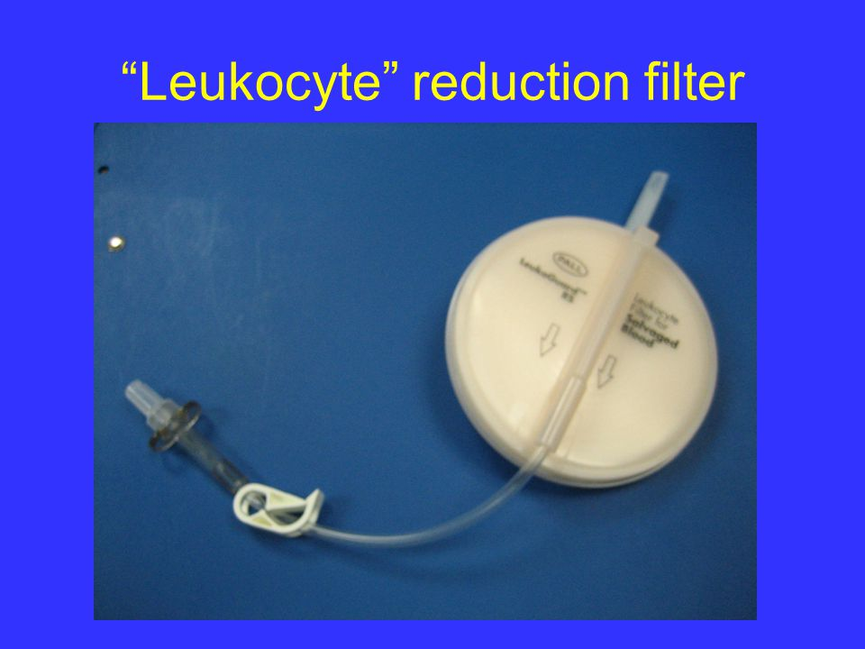 Leukocyte reduction filter