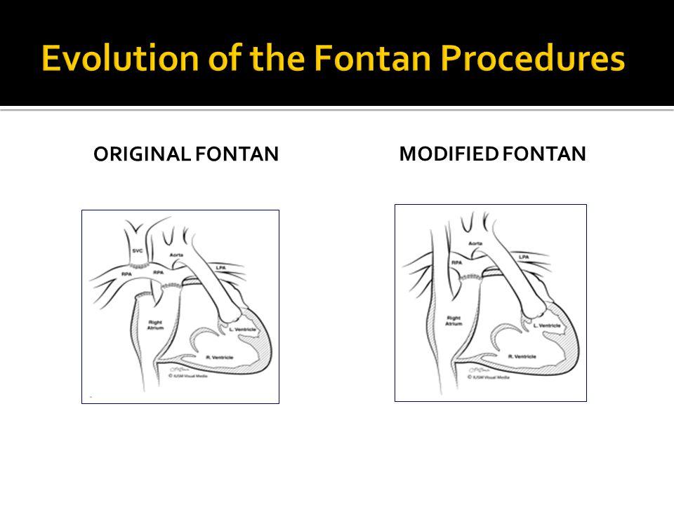ORIGINAL FONTAN MODIFIED FONTAN