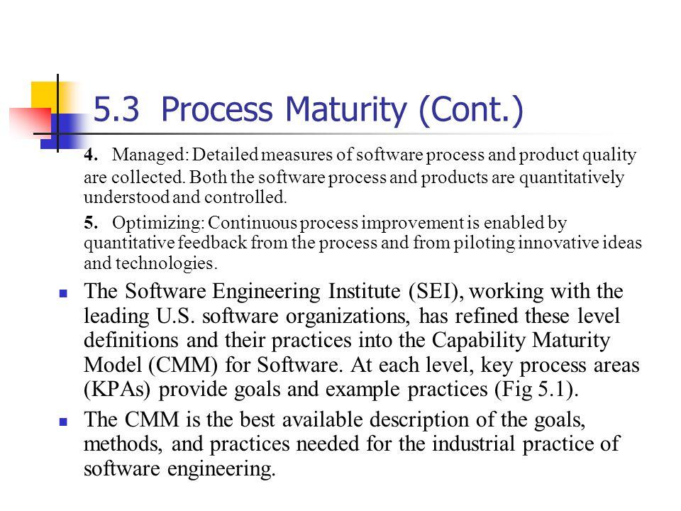 5.3Process Maturity (Cont.) 4.