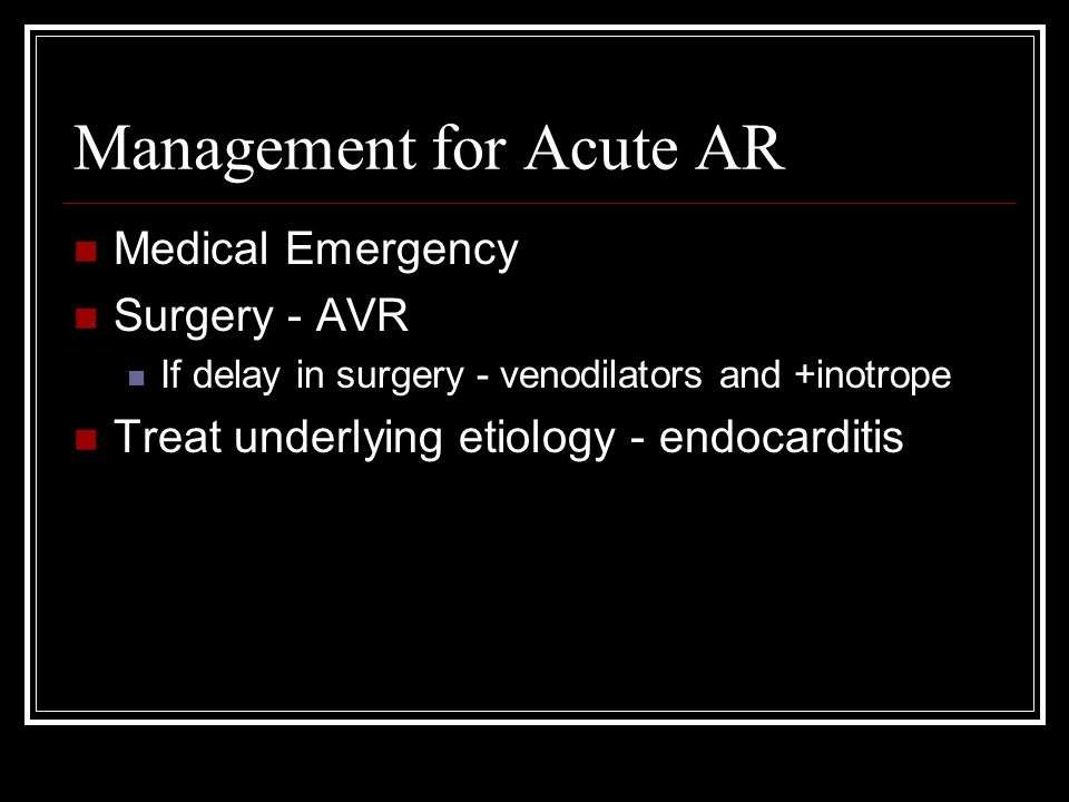 J McEntee TREATMENT: SURGERY VS MEDICAL MANAGEMENT