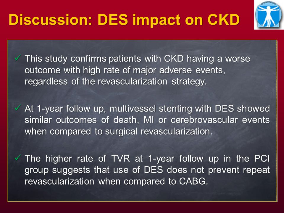 This study confirms patients with CKD having a worse outcome with high rate of major adverse events, regardless of the revascularization strategy.