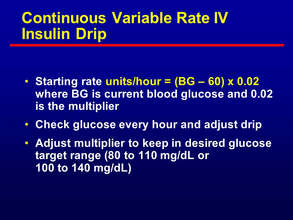 A System for the Maintenance of Overnight Euglycemia and the Calculation of Basal Insulin Requirements in Insulin-Dependent Diabetics 1/slope = Multiplier = 0.02 0 1 2 3 4 5 6 0100200300400 Glucose (mg/dL) Insulin Rate (U/hr) White NH, et al.