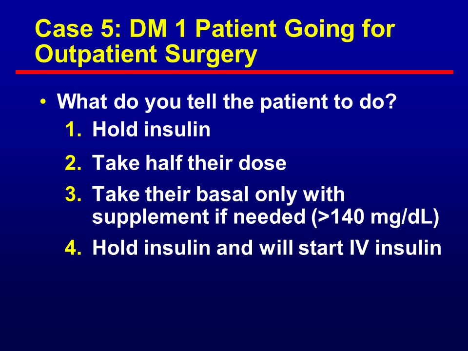 Case 4: A Person With Diabetes on TPN What is the best insulin treatment for a DM patient on TPN? (BG 150 to 300 mg/dL) If unstable, first give IV ins