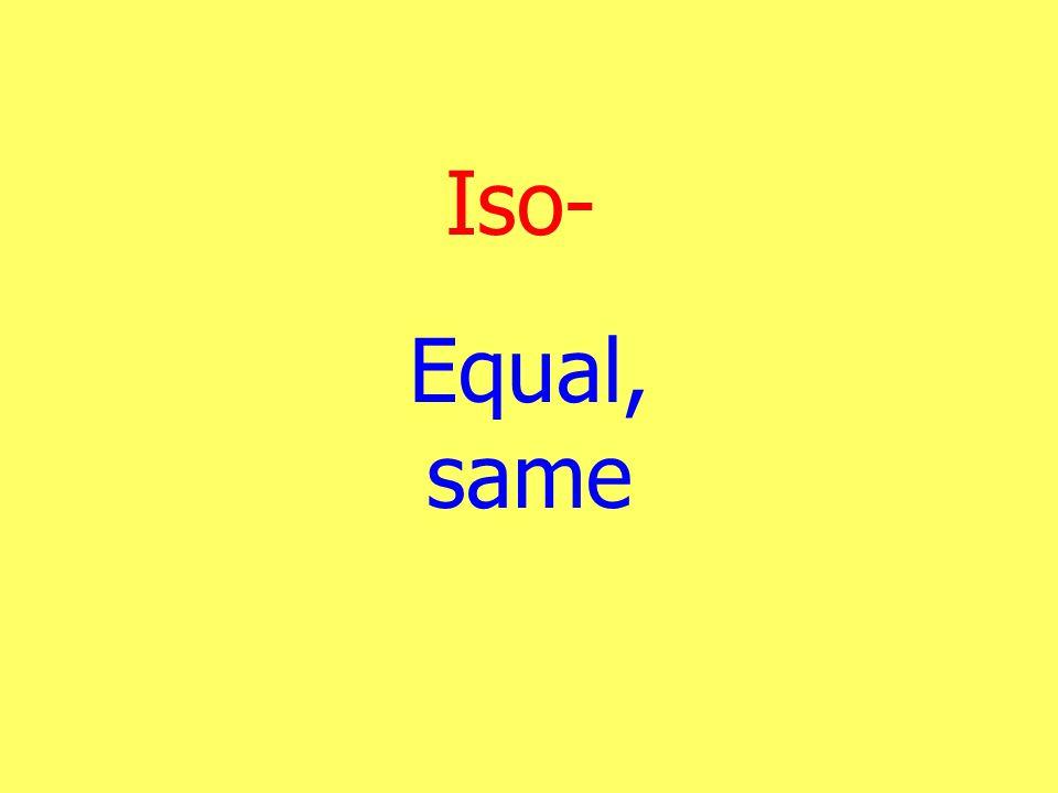 Iso- Equal, same