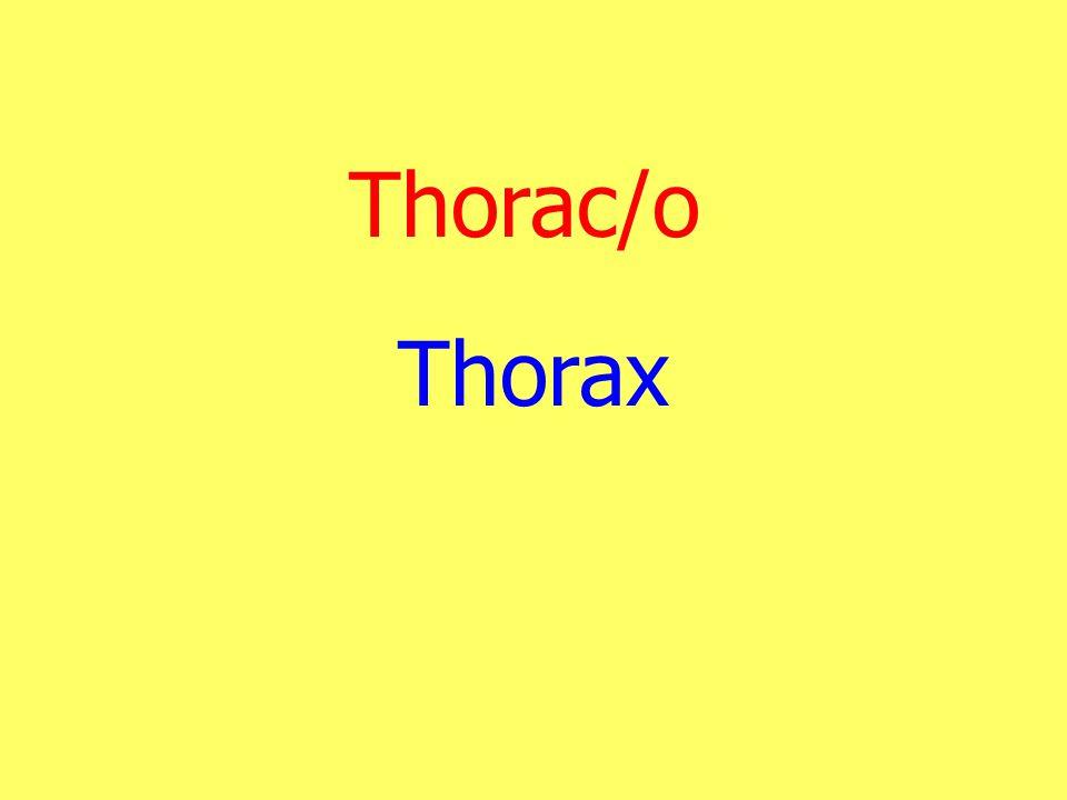 Thorac/o Thorax