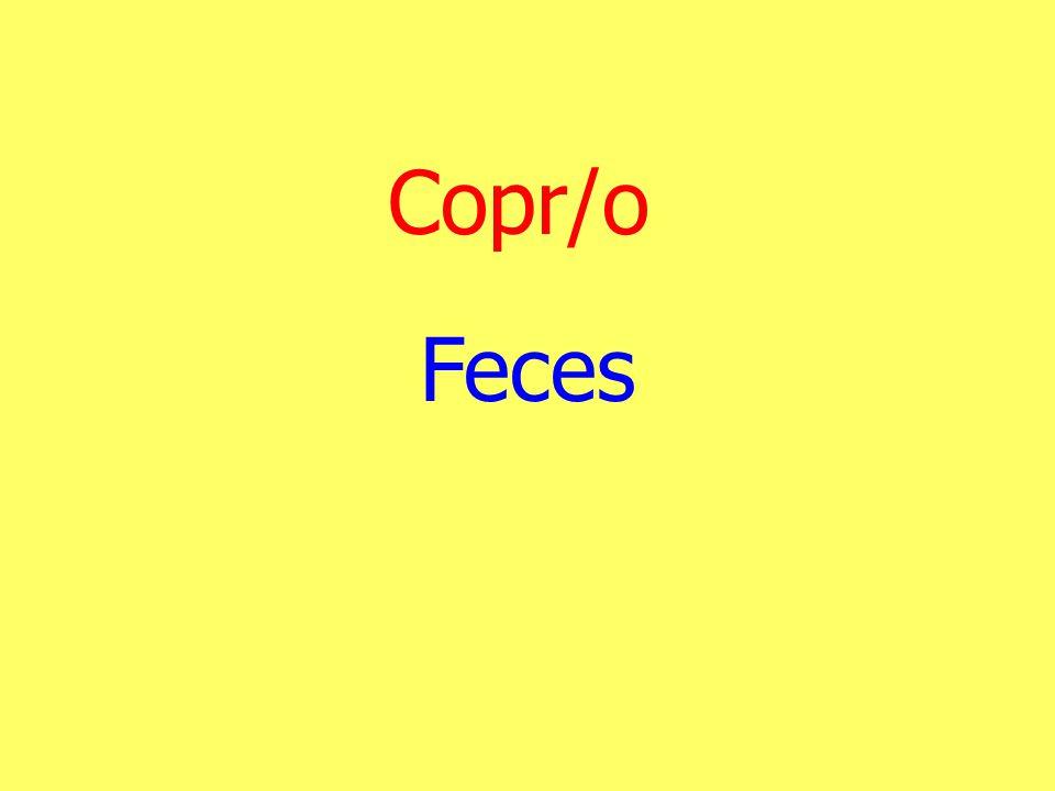 Copr/o Feces