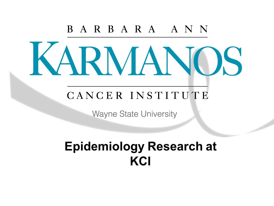 Epidemiology Research at KCI